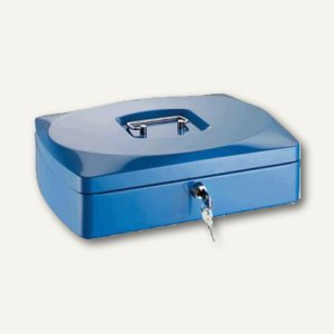 Alco Geldkassette, 9 Münzfächer, 330 x 235 x 90 mm, blau, 8430-15
