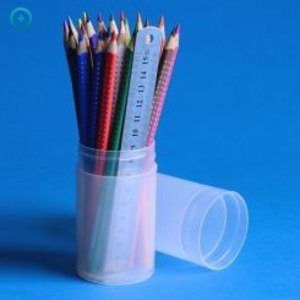 Runddose / Verpackungsrohr 0.32 Liter, 183 x 55mm, Schraubverschluss, PP, transp