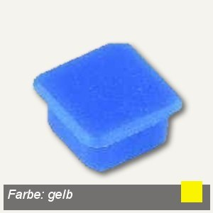 Alco Haftmagnet eckig, 13x13mm, 7 mm hoch, 0.1 kg, gelb, 10 Stück, 6868V13