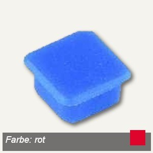 Alco Haftmagnet eckig, 13x13mm, 7 mm hoch, 0.1 kg, rot, 10 Stück, 6868V12