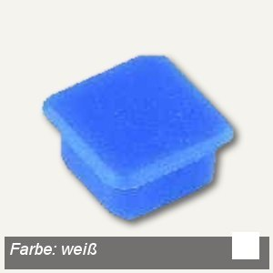Alco Haftmagnet eckig, 13x13mm, 7 mm hoch, 0.1 kg, weiß, 10 Stück, 6868V10