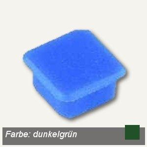 Alco Haftmagnet eckig, 13x13mm, 7 mm hoch, 0.1 kg, dunkelgrün, 10 Stück, 6868V18