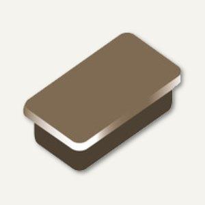 Alco Haftmagnet eckig, 13x24mm, 7 mm hoch, 0.3 kg, braun, 10 Stück, 6878V16