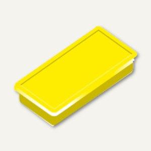 Alco Haftmagnet eckig, 23x50mm, 8 mm hoch, 1.0 kg, gelb, 10 Stück, 6898V13