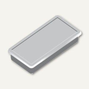 Alco Haftmagnet eckig, 23x50mm, 8 mm hoch, 1.0 kg, grau, 10 Stück, 6898V29