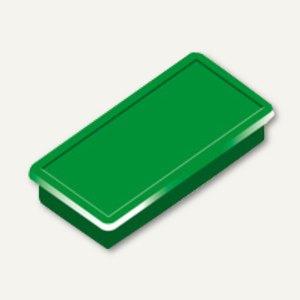 Alco Haftmagnet eckig, 23x50mm, 8 mm hoch, 1.0 kg, dunkelgrün, 10 Stück, 6898V18