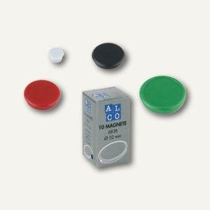 Alco Haftmagnet rund, Ø13 mm, 7 mm hoch, 0.1 kg, weiß, 10 Stück, 6818V10