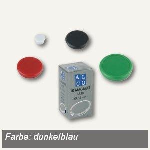 Alco Haftmagnet rund, Ø32 mm, 7 mm hoch, 0.8 kg, dunkelblau, 10 Stück, 6838V15