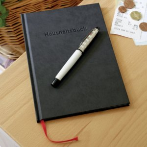 Haushaltsbuch Design