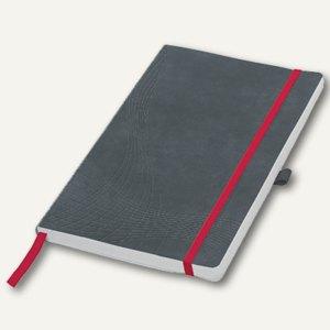"Zweckform Notizbuch ""Notizio"", DIN A5, liniert, Softcover, grau, 80 Blatt, 7018"