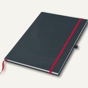 """Zweckform Notizbuch """"Notizio"""", DIN A4, liniert, Hardcover, d.grau, 80 Bl., 7028"""