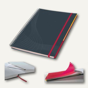 """Zweckform Notizbuch """"Notizio"""", DIN A5, liniert, Hardcover, d.grau, 90 Bl., 7022"""