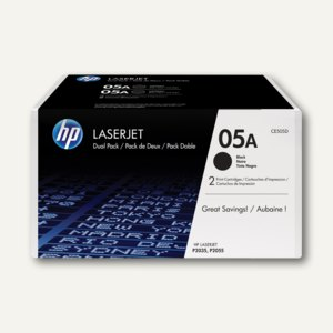 HP Lasertoner Nr. 05A, je ca. 2.300 Seiten, Doppelpack, CE505D