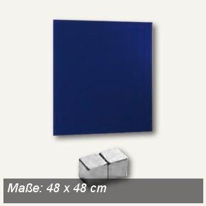 officio Magnetische Glastafel, 48 x 48 cm, blau, 6960-15