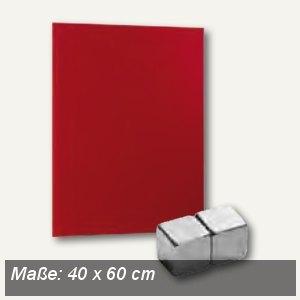 officio Magnetische Glastafel, 40 x 60 cm, rot, 6970-12