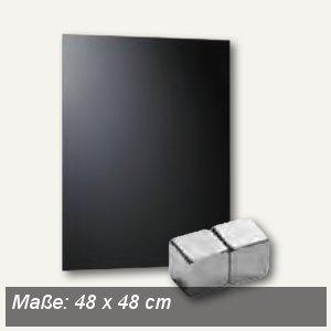 officio Magnetische Glastafel, 48 x 48 cm, schwarz, 6960-11
