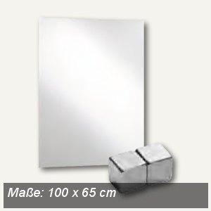 Alco Magnetische Glastafel, 100 x 65 cm, weiß, 6980-10
