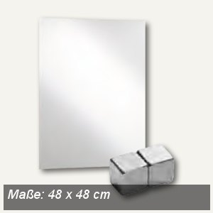 officio Magnetische Glastafel, 48 x 48 cm, weiß, 6960-10