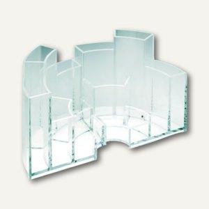 Schreibtisch-Butler, 13 x 16 x 9.5 cm, erweiterbar, 6 Fächer, glasklar, 4473-22