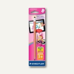 Schreiblernbleistift Noris Stylus Jumbo, Eingabestift + Bleistift, pink/gelb, 11