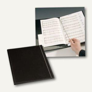 Notenmappe, Kunstleder, ohne Handgurt, 265x335mm, schwarz, 5 Stück, 339269