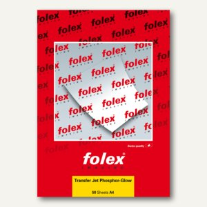 T-Shirt Inkjet-Folien TRANSFER JET PHOSPHOR-GLOW, DIN A4, 50Bl., 04300.000.44100