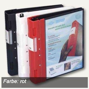 Wedo Präsentationsordner ERGOGRIP, DIN A4, 4 Ringe, Rücken 56mm, rot, 58 18002