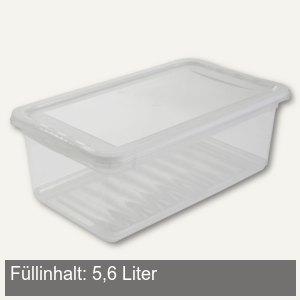 Aufbewahrungsbox/Schuhbox, 330 x 195 x 120 mm, 5.6 Liter, PP, transparent, 10578