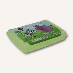 "OKT Brotdose DECO-Click-Box Midi ""Hippo"", 0.5 Liter, grün, 1069625101200"