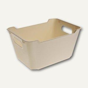 """OKT Aufbewahrungsbox """"LOFT"""" - 12 Liter, 355 x 235 x 200 mm, creme, 1091287600000"""