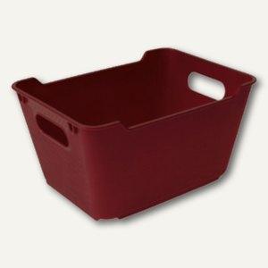 "Aufbewahrungsbox ""LOFT"" - 12 Liter, 355 x 235 x 200 mm, bordeaux, 1091240900000"