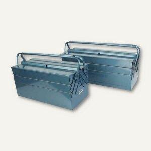 Metall-Werkzeugkasten, Länge: 430 mm, abschließbar, blau, 211-430
