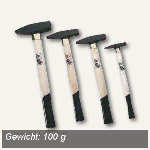 Brüder Mannesmann Schlosserhammer, 100 g, nach DIN 1041, Holzgriff, 76501