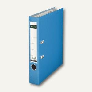 LEITZ Kunststoffordner 180°, Rückenbreite 52 mm, hellblau, PP, 1015-50-30