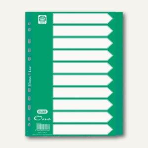 Elba Register One, DIN A4, 10-teilig, blanko, 120my, grün, 400010157
