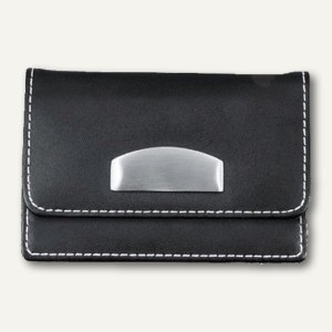 officio Visitenkartenetui London, Leder, 63x105x17 mm, schwarz, 86040
