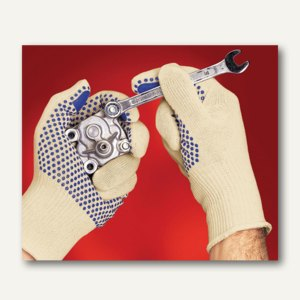 Ansell Schutzhandschuhe Tiger Paw®, Baumwolle/Polyester,Größe 10, 12 Paar,76-301