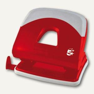 officio Locher, bis 30 Blatt, Soft-Grip-Griff, rot, 961390