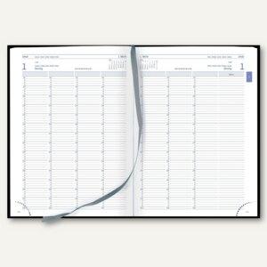 officio Planungsbuch/Praxiskalender DIN A4, 1 Tag/2 Seiten, 768 Seiten, schwarz