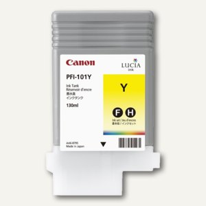 Canon Tintenpatrone, PFI-101Y, gelb, 0886B001