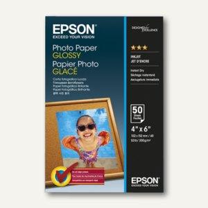 Epson Fotopapier Glossy, 10 x 15 cm, 200 g/m², 50 Blatt, C13S042547
