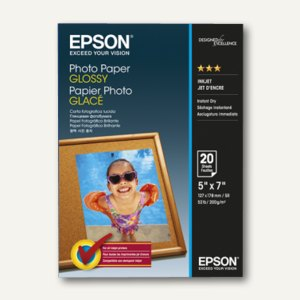 Epson Fotopapier Glossy, 13 x 18 cm, 200 g/m², 20 Blatt, C13S042544