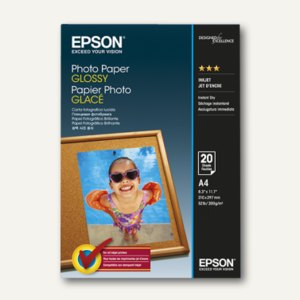 Epson Fotopapier Glossy, DIN A4, 200 g/m², 20 Blatt, C13S042538