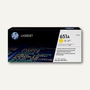 HP Toner Nr. 651A, 16.000 Seiten, gelb, CE342A