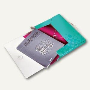 LEITZ Ablagebox WOW, Dokumenten-Mappe, DIN A4, PP, eisblau, 4629-00-51