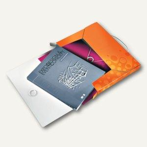 LEITZ Ablagebox WOW, Dokumenten-Mappe, DIN A4, PP, orange-metallic, 4629-00-44