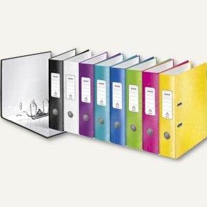 LEITZ Ordner WOW, 180 Grad, DIN A4, 80 mm, farbig sortiert, 10 Stück, 1005-10-99
