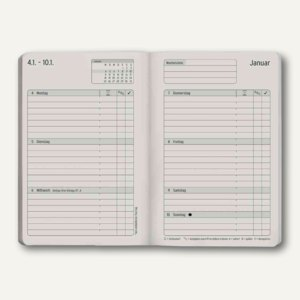 "Chronobook Taschenkalender ""Colour Edition"", ca. A6, Softcover, türkis, 50797"