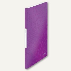 LEITZ Sichtbuch WOW, DIN A4, mit 20 Hüllen, PP, violett, 4631-00-62