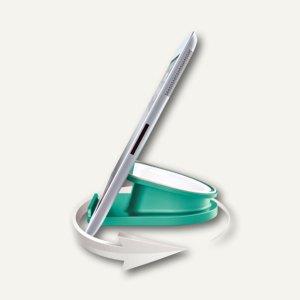 LEITZ Tischständer für iPad/Tablet PC WOW, drehbar, eisblau, 6274-10-51